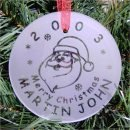 Santa ornament Personalized