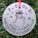 Snowman Ornament Personalized